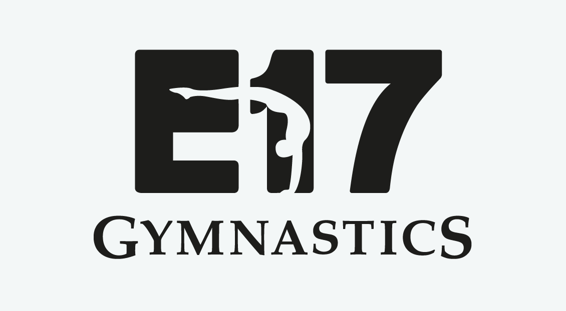 E17 Gymnastics Club branding and logostyle