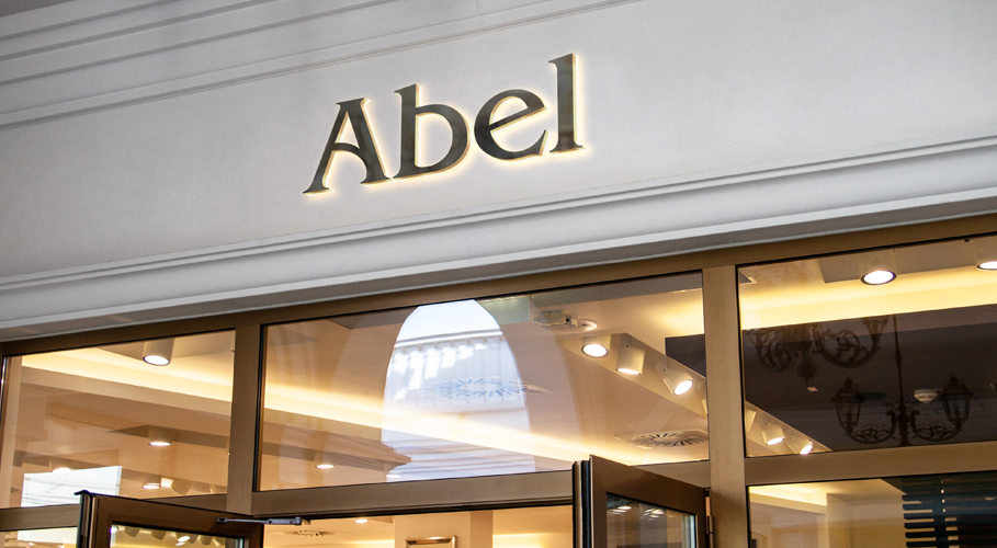 Abel namestyle in store signage