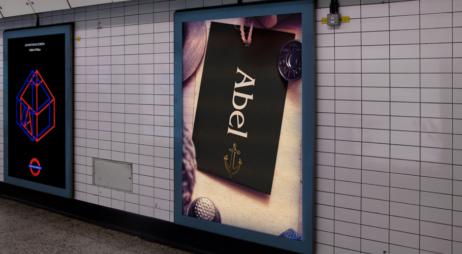 Abel Underground station advertisement