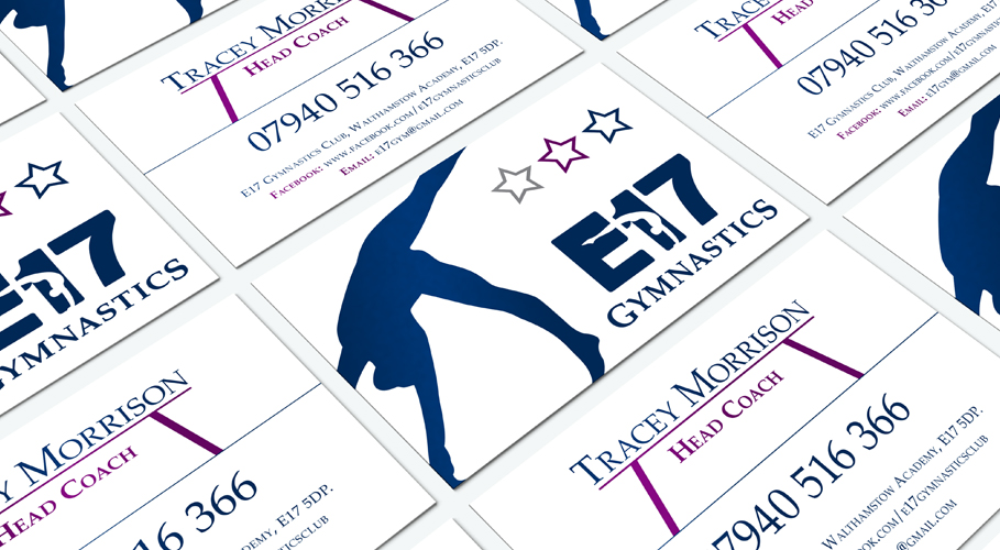 E17 Gymnastics business cards
