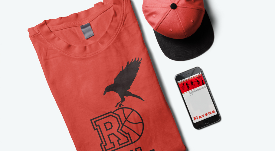 Red Ravens apparel and iPhone