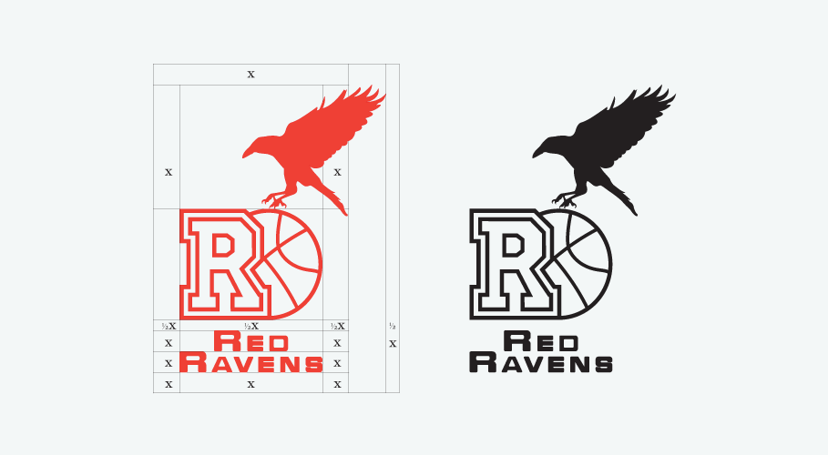 Red Ravens identity guidelines