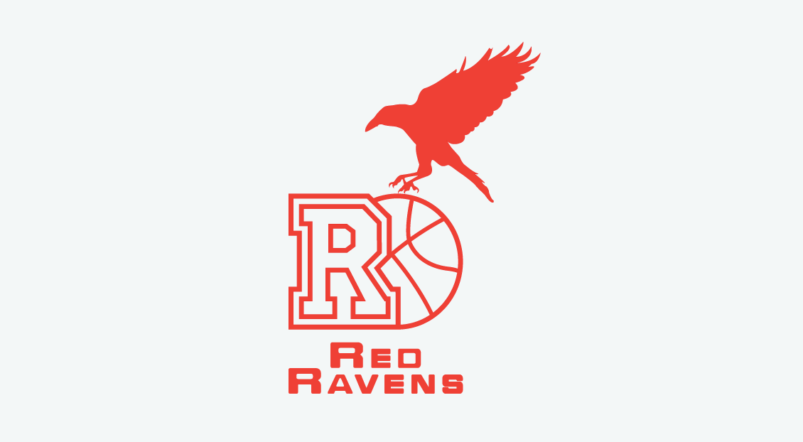 Red Ravens Womens Basketball Club identity