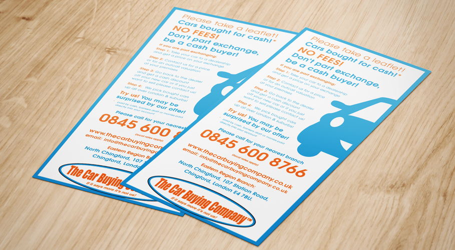 The Car Buying Company leaflets