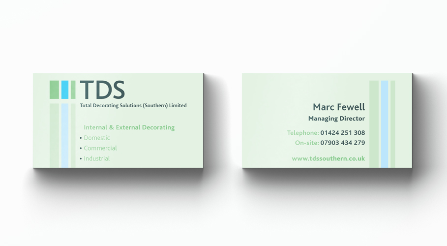 Total Decorating Solutions businesscards