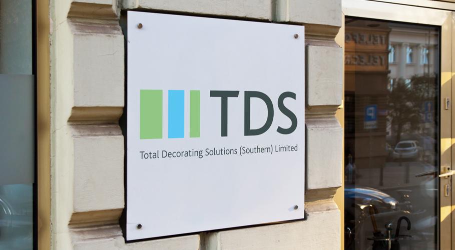 TDS office signage using identity