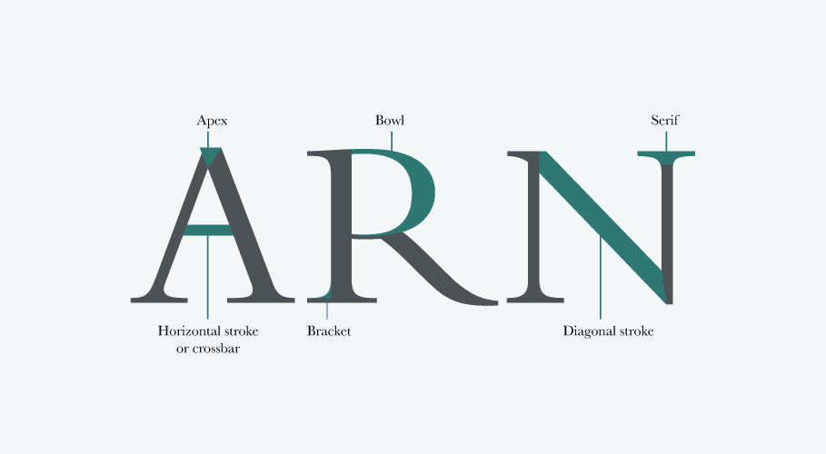 Typography Anatomy For Caps Letters