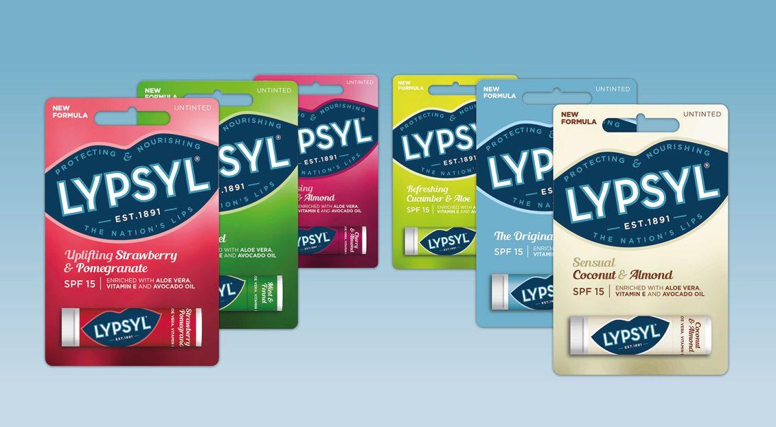 Lypsyl rebrand packaging