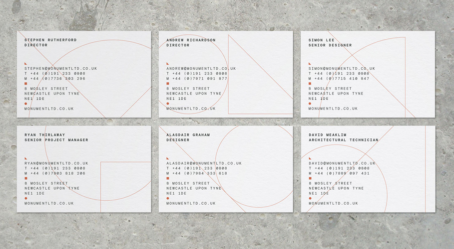 Monument, business cards