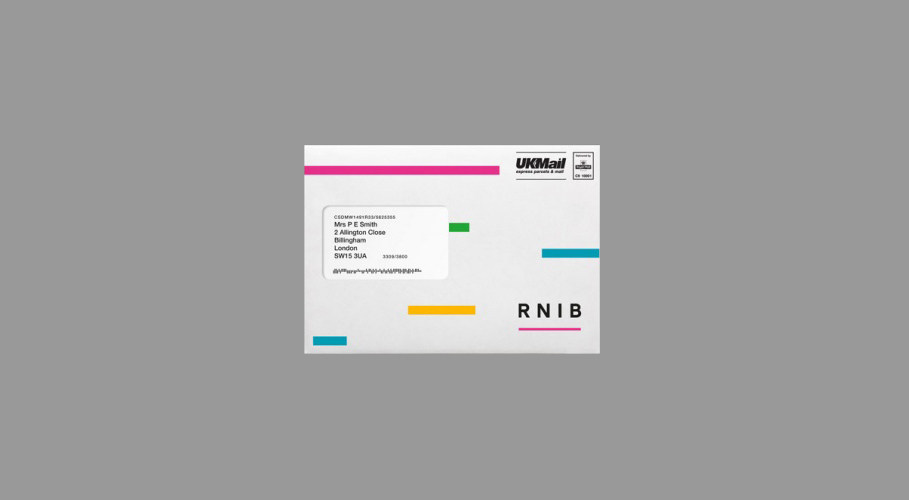 RNIB, envelope