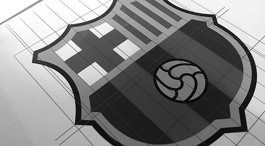barcelona fc given new crest and typeface by summa b creative branding