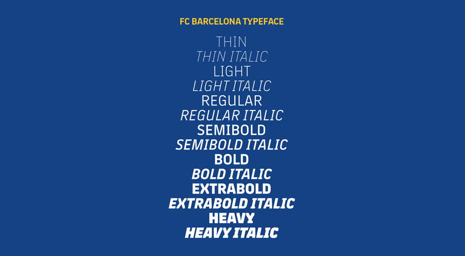 Barcelona FC, typeface1