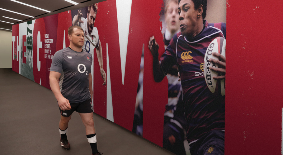 England Rugby, tunnel