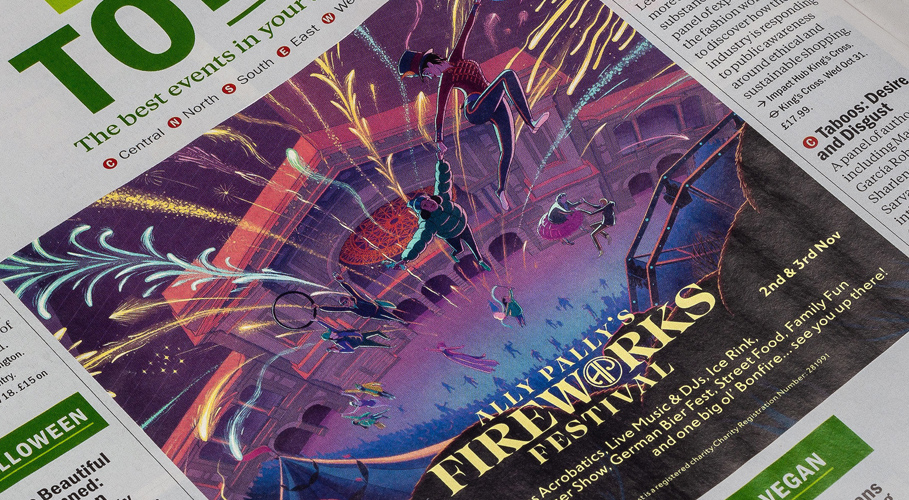 Alexandra Palace, fireworks